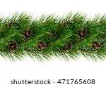 christmas garland for... | Shutterstock . vector #471765608