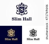 logo vector heraldry shield hall | Shutterstock .eps vector #471769646