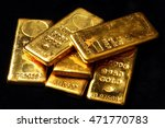 real gold bars background | Shutterstock . vector #471770783
