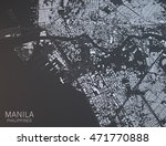 map of manila  satellite view ... | Shutterstock . vector #471770888