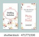 wedding set. romantic vector... | Shutterstock .eps vector #471771530