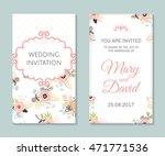 wedding set. romantic vector... | Shutterstock .eps vector #471771536