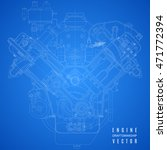 blueprint engine  project... | Shutterstock .eps vector #471772394