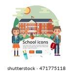 vector education cover design.... | Shutterstock .eps vector #471775118