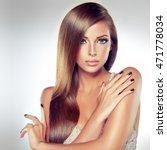 beautiful brunette  model girl... | Shutterstock . vector #471778034