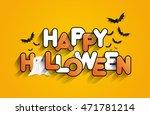 happy halloween card design... | Shutterstock .eps vector #471781214