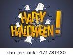 happy halloween card design... | Shutterstock .eps vector #471781430