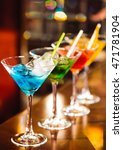 multicolored cocktails at the... | Shutterstock . vector #471781904