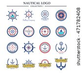 nautical logo design template | Shutterstock .eps vector #471782408