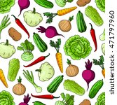 vegetables seamless pattern of... | Shutterstock .eps vector #471797960