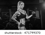 beautiful muscular fit woman... | Shutterstock . vector #471799370