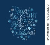 happy new year and merry... | Shutterstock .eps vector #471808370