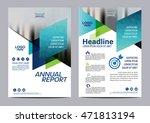 blue brochure layout design... | Shutterstock .eps vector #471813194