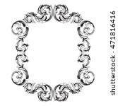 vintage border frame engraving... | Shutterstock .eps vector #471816416