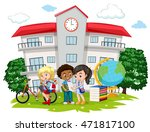 students learning at school... | Shutterstock .eps vector #471817100