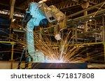 robot welding test run new... | Shutterstock . vector #471817808