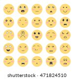 smiley face icons with... | Shutterstock .eps vector #471824510