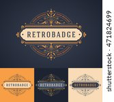 elegant luxury badge label or... | Shutterstock .eps vector #471824699