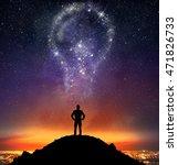 businessman illuminated by a... | Shutterstock . vector #471826733