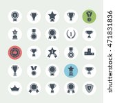 award icon set. black award... | Shutterstock . vector #471831836