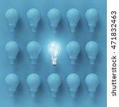 idea concept   creative light... | Shutterstock . vector #471832463