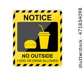 notice  no outside food or... | Shutterstock .eps vector #471834098