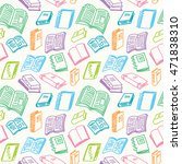 books sketch seamless colorful... | Shutterstock .eps vector #471838310