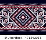 geometric ethnic oriental... | Shutterstock .eps vector #471843086