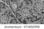 classic monotone carvings...   Shutterstock . vector #471850598