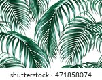 tropical seamless vector floral ... | Shutterstock .eps vector #471858074