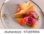 side dish of potatoes and... | Shutterstock . vector #471859856