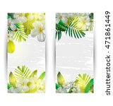 illustration of  tropical plant ... | Shutterstock .eps vector #471861449