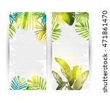 illustration of  tropical plant ... | Shutterstock .eps vector #471861470