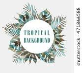 summer tropical hawaiian... | Shutterstock .eps vector #471866588