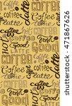 coffee seamless pattern   hand... | Shutterstock .eps vector #471867626