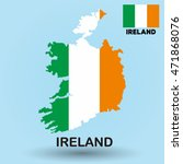 ireland flag map | Shutterstock .eps vector #471868076