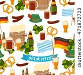 german festival seamless... | Shutterstock .eps vector #471872723