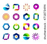 abstract icons based on the... | Shutterstock .eps vector #471873494