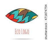 organic cosmetic mono line logo ... | Shutterstock .eps vector #471874754