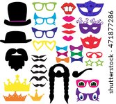 isolated set for a masquerade... | Shutterstock .eps vector #471877286