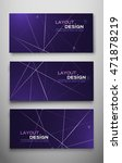 set of three abstract flyer for ... | Shutterstock .eps vector #471878219
