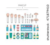 set of decorative cosmetics for ... | Shutterstock .eps vector #471879410
