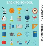 back to school. school ... | Shutterstock .eps vector #471882470