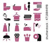 bathroom icon set   Shutterstock .eps vector #471884498