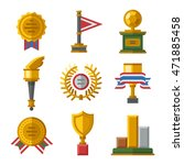 trophy sports awards and sport...   Shutterstock .eps vector #471885458