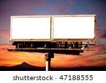commercial blank billboard dusk ... | Shutterstock . vector #47188555