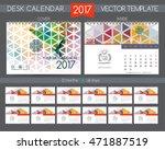 design desk calendar 2017.... | Shutterstock .eps vector #471887519
