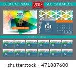 design desk calendar 2017.... | Shutterstock .eps vector #471887600