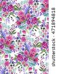 seamless botanical illustration.... | Shutterstock . vector #471894818
