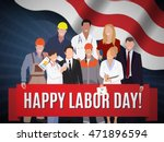 Happy Labor Day American Banne...
